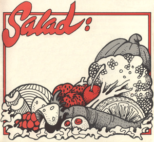 Take Out Menu Salad Block