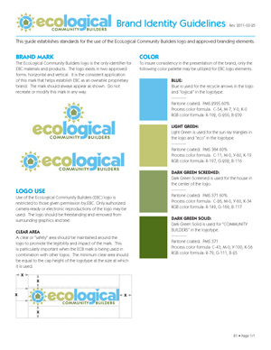 Ecological brand guidelines