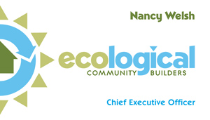 Ecological business card front