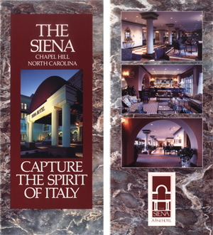 Sienna Hotel Brochure Front & Flap