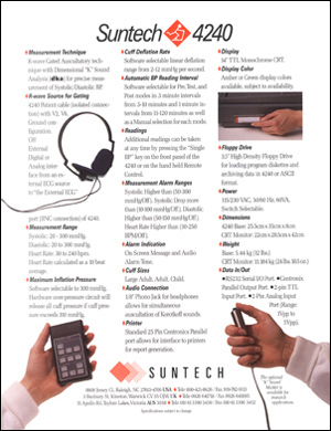 Suntech 4240 Brochure Back